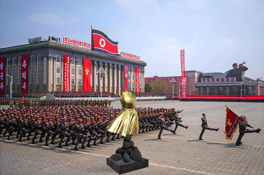 ©SANDRA FILIPPUCCI - Armor Dress Sculpture in North Korea