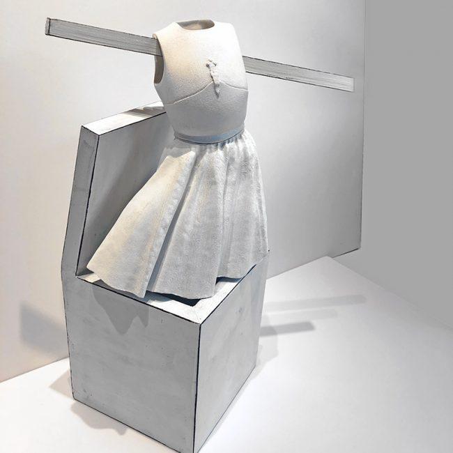 Ascension, Peace Box. 3D gypsum maquette in wood box, 2018-19