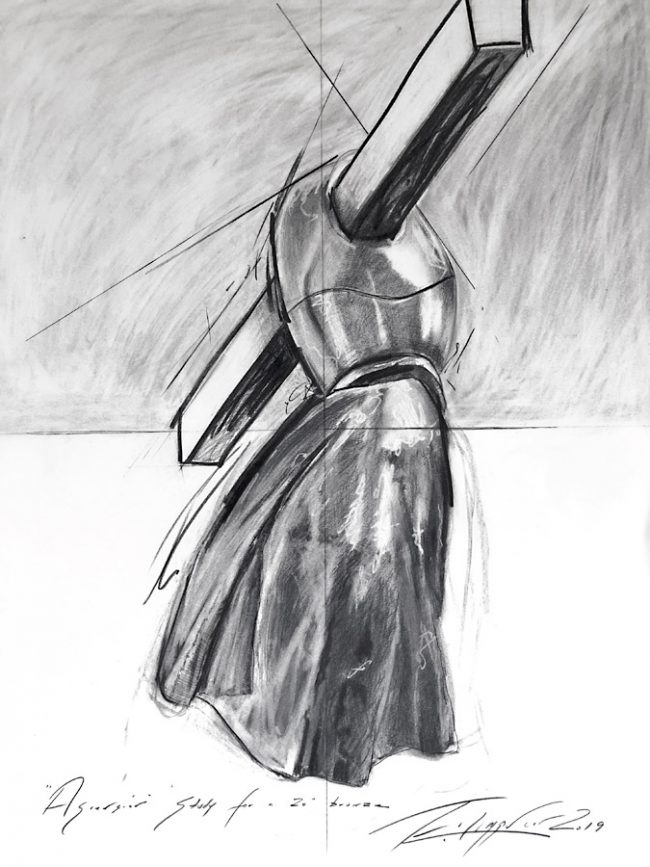 ASCENSION - Charcoal Drawing Sandra Filippucci