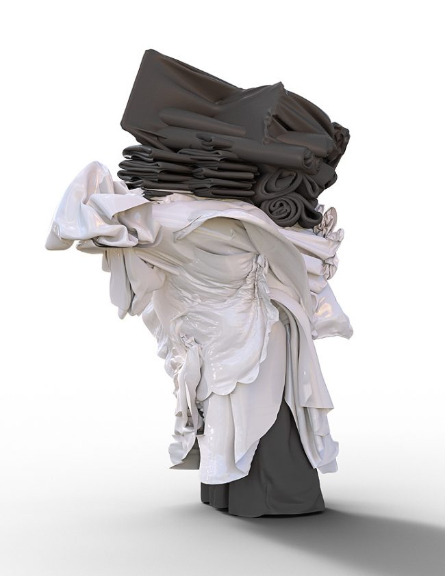 THE ORDER/ Figure VIIa, 2020. 3d study for a large ceramic sculpture. ©FILIPPUCCI